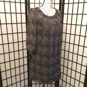 Francesca's Collection Black & White Shift Dress